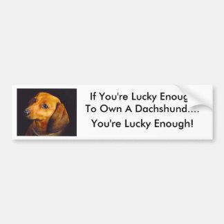 Pegatina para el parachoques del Dachshund Pegatina Para Auto