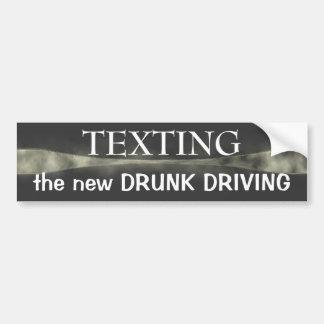 Pegatina para el parachoques del ~ de Texting Pegatina Para Auto