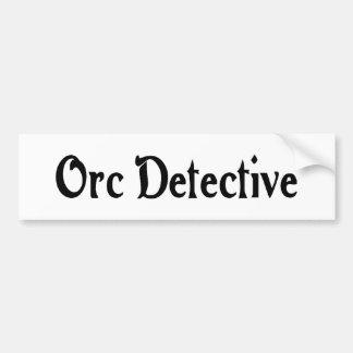 Pegatina para el parachoques del detective de Orc Etiqueta De Parachoque