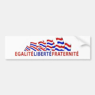 Pegatina para el parachoques del día de Bastille Etiqueta De Parachoque