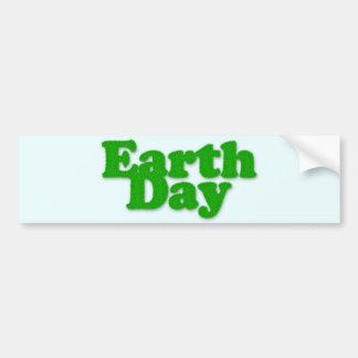 Pegatina para el parachoques del Día de la Tierra Pegatina Para Auto