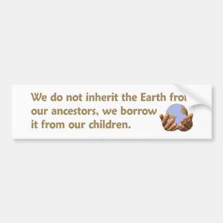 Pegatina para el parachoques del Día de la Tierra Etiqueta De Parachoque