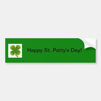 Pegatina para el parachoques del día del St. Patty Pegatina Para Auto