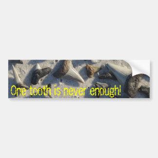 Pegatina para el parachoques del diente del tiburó pegatina para auto