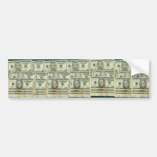Pegatina para el parachoques del dinero pegatina de parachoque