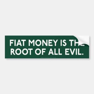 Pegatina para el parachoques del dinero de Fiat Pegatina Para Auto