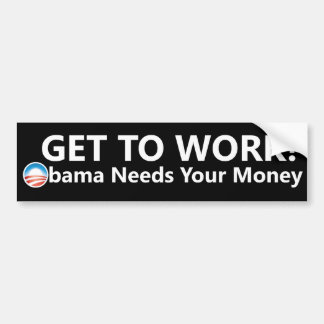 Pegatina para el parachoques del dinero de Obama Pegatina Para Auto