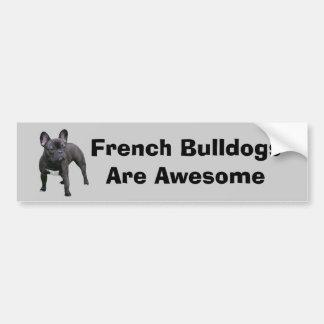 Pegatina para el parachoques del dogo francés pegatina de parachoque