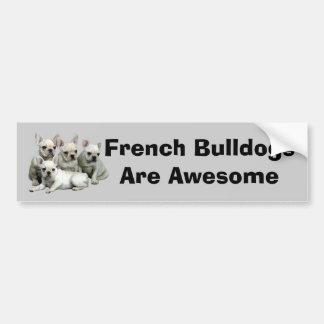 Pegatina para el parachoques del dogo francés etiqueta de parachoque