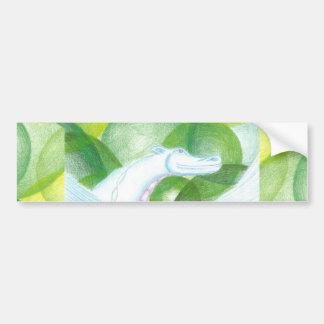 Pegatina para el parachoques del dragón de agua etiqueta de parachoque