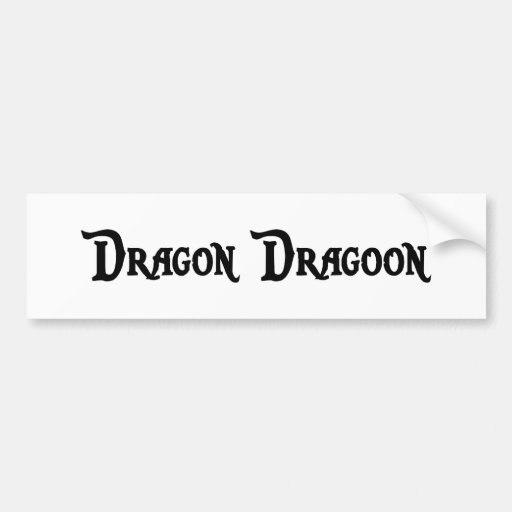 Pegatina para el parachoques del Dragoon del dragó Pegatina De Parachoque