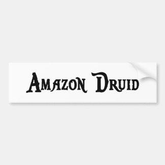 Pegatina para el parachoques del druida del Amazon Etiqueta De Parachoque