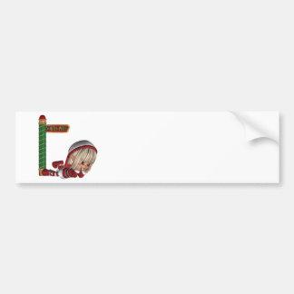 Pegatina para el parachoques del duende del navida etiqueta de parachoque