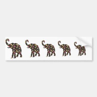 Pegatina para el parachoques del elefante del Hipp Pegatina De Parachoque