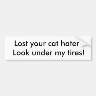 Pegatina para el parachoques del enemigo del gato pegatina para auto