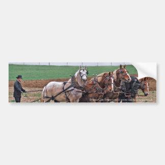 Pegatina para el parachoques del equipo de Amish Pegatina Para Auto