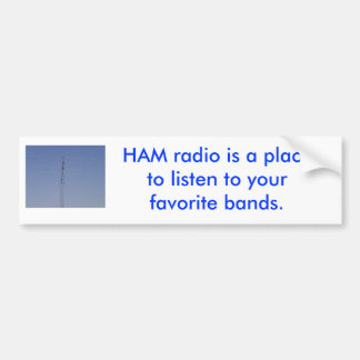 Pegatina para el parachoques del equipo de radio-a etiqueta de parachoque