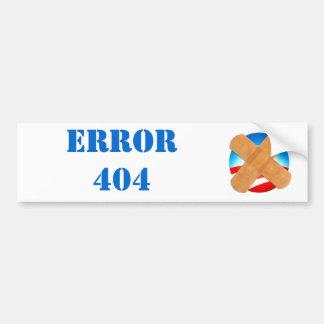 Pegatina para el parachoques del ERROR 404 Pegatina Para Auto