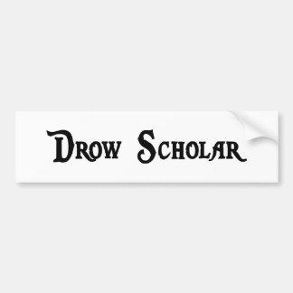 Pegatina para el parachoques del escolar de Drow Pegatina De Parachoque
