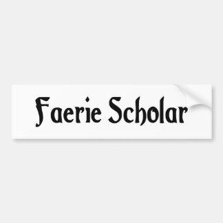 Pegatina para el parachoques del escolar del Faeri Etiqueta De Parachoque