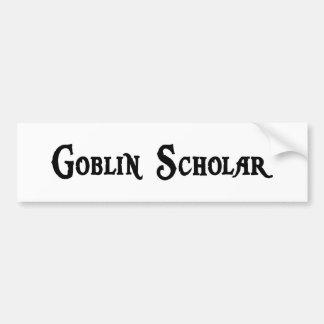 Pegatina para el parachoques del escolar del Gobli Etiqueta De Parachoque