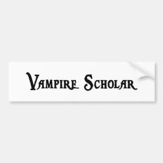 Pegatina para el parachoques del escolar del vampi pegatina de parachoque