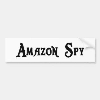 Pegatina para el parachoques del espía del Amazona Pegatina De Parachoque