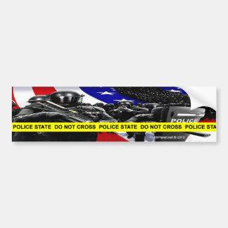 Pegatina para el parachoques del estado policial pegatina para auto