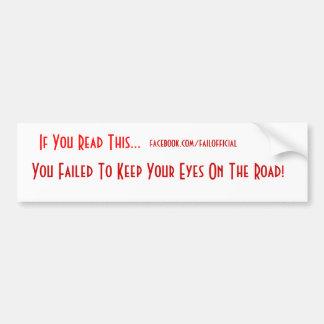 Pegatina para el parachoques del fall de los ojos pegatina para auto