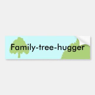 pegatina para el parachoques del Familia-árbol-hug Etiqueta De Parachoque