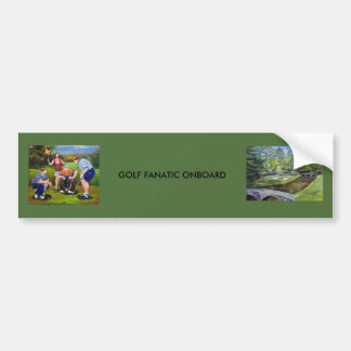 Pegatina para el parachoques del fanático del golf pegatina para auto