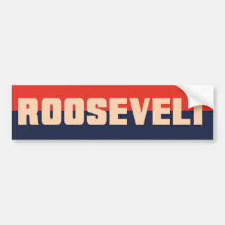 pegatina para el parachoques del FDR Roosevelt de Etiqueta De Parachoque