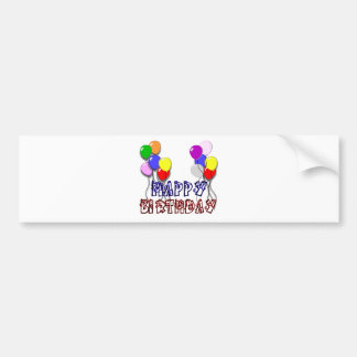 Pegatina para el parachoques del feliz cumpleaños  pegatina para auto