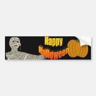 Pegatina para el parachoques del feliz Halloween d Pegatina De Parachoque