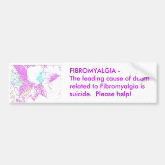 Pegatina para el parachoques del Fibromyalgia Etiqueta De Parachoque
