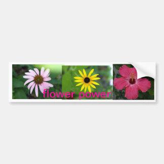 pegatina para el parachoques del flower power pegatina de parachoque