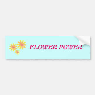 Pegatina para el parachoques del flower power etiqueta de parachoque