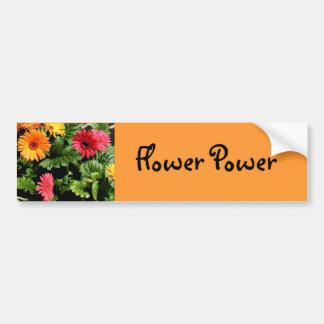 Pegatina para el parachoques del flower power del  pegatina de parachoque