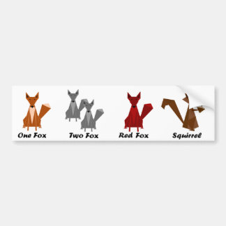 Pegatina para el parachoques del Fox/de la ardilla Pegatina Para Auto