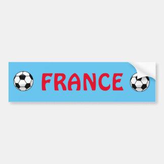 Pegatina para el parachoques del fútbol de Francia Pegatina Para Auto