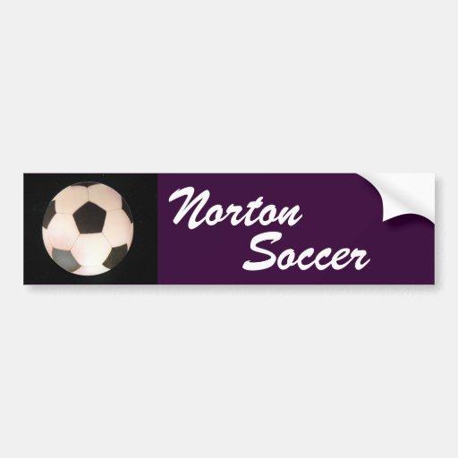 Pegatina para el parachoques del fútbol de Norton Pegatina Para Auto