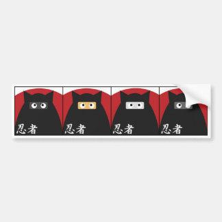 Pegatina para el parachoques del gatito de Ninja Etiqueta De Parachoque