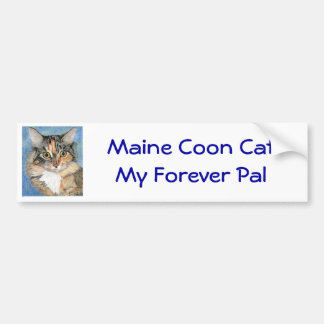 Pegatina para el parachoques del gato de Coon de M Etiqueta De Parachoque