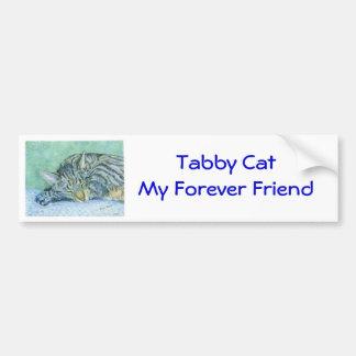 Pegatina para el parachoques del gato de Tabby Pegatina Para Auto