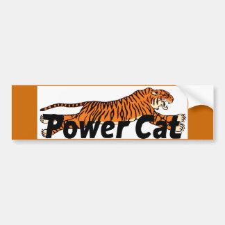 Pegatina para el parachoques del gato del poder pegatina para auto