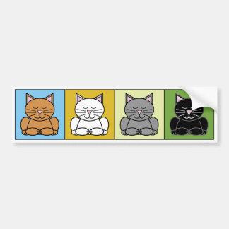 Pegatina para el parachoques del gato del zen pegatina para auto