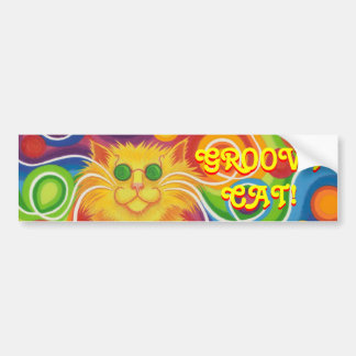 "pegatina para el parachoques del ""gato maravilloso pegatina de parachoque"