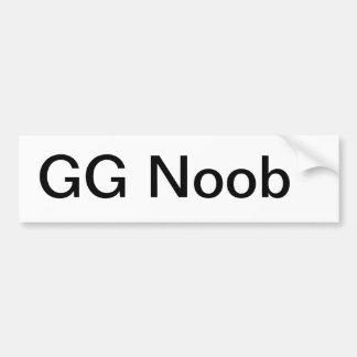 Pegatina para el parachoques del GG Noob Pegatina Para Auto
