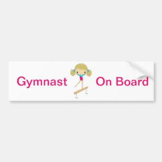 Pegatina para el parachoques del gimnasta a bordo pegatina para auto