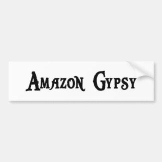 Pegatina para el parachoques del gitano del Amazon Pegatina De Parachoque